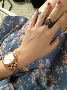 Watch and tattoo ring. Killer.