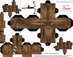 Star Wars paper toys Chewie