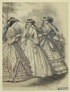 In the Swan's Shadow: Quickie: Godey's Lady's Book Fashion Plate, 1862