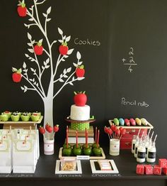 Beautiful back to school party table