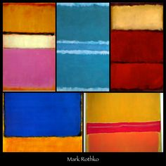 I love Rothko , I try to teach who he is and what he has done. The easiest way is to copy his works of art , his colour'...