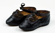 Child's shoes, 1880-1890.