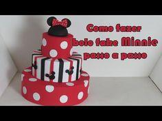 Como fazer Bolo fake Minnie passo a passo - YouTube