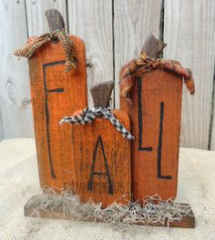 My Spare Time Designs: Week 3 and More Fall! My Spare Time Designs: Week 3 and More Fall! Fall Wood Crafts, Halloween Wood Crafts, Wood Block Crafts, Autumn Crafts, Fall Halloween, Holiday Crafts, Wooden Pumpkin Crafts, Wooden Halloween Decorations, Primitive Halloween Decor