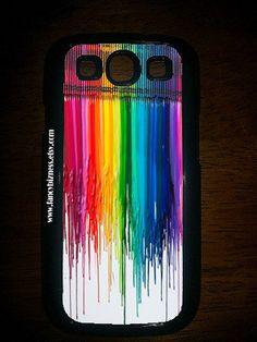 Samsung Galaxy S3 Melted Crayon Design Hard Snap by FancyBizness, $13.99