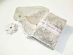 Gift Set 3pcs Silver Lace Leather Card by PrettyOrganizedPurse, €49.00