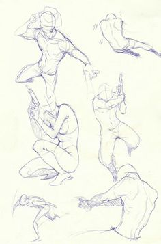 Man Holding a weapon - Poses and Male Body Study - Drawing Reference