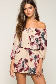 Blossom Off Shoulder Romper