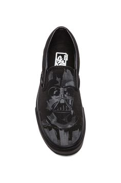 Iconic forces merge in the Vans x STAR WARS collection when scenes and characters from the legendary film meet up with Vans Classic Slip-on. Featuring a custom Darth Vader graphic the Star Wars Classi
