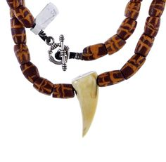 Krobo Powder glass beads, Leopard Tooth #1300 | Chains | Jewelry — Deco Art Africa - Decorative African Art