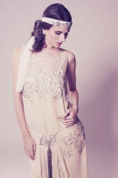 Look de novia inspirado en las flappers de los años 20