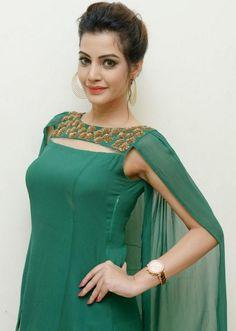 Look at her cape!. Read more http://fashionpro.me/diksha-panth-nehal-sarogi-cape-gown