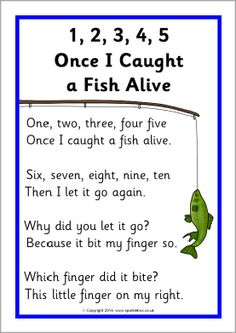 Once I Caught a Fish Alive song sheet - SparkleBox Nursery Rhymes Lyrics, Nursery Rhymes Preschool, Nursery Rhymes Songs, Preschool Music, Songs For Toddlers, Kids Songs, Songs For Preschoolers, Counting Songs, Toddler Activities
