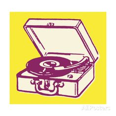 Portable Record Player Art Print