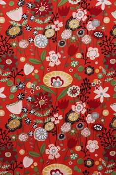 Alexander Henry - Indochine - Kaori Floral - Red - BTY- Last yard Motifs Textiles, Textile Prints, Textile Patterns, Textile Design, Fabric Design, Pretty Patterns, Flower Patterns, Pattern Flower, Surface Pattern Design