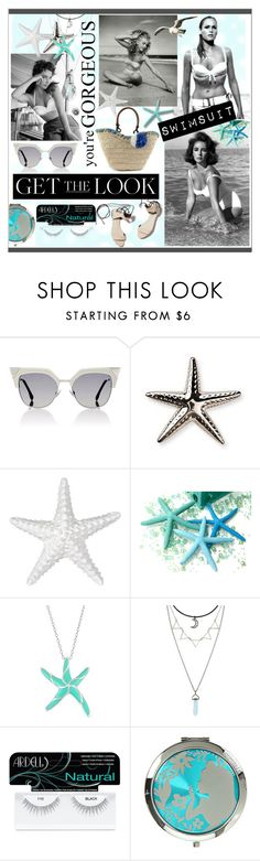 """""""Get The Look:  Swimsuit Edition * Divas"""" by calamity-jane-always ❤ liked on Polyvore featuring Fendi, Frontgate, 3.1 Phillip Lim, Ardell, GetTheLook, fendi, Swimsuits and fashionset"""