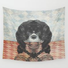 Look Both Ways Wall Tapestry. #illustration #pop-surrealism #digital #vintage