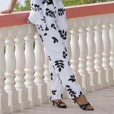 NEW WOMENS MIDNIGHT VELVET OFF WHITE METALLIC ANIMAL PRINT PANTS PLUS SIZE 16W