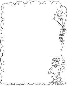 MARCOS Y BORDES ESCOLARES                                                                                                                                                                                 Más Borders For Paper, Borders And Frames, School Border, Kindergarten Portfolio, Notebook Cover Design, Baby Frame, School Clipart, Page Borders, Children Images