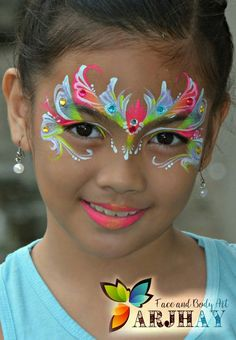 When you think about face painting designs, you probably think about simple kids face painting designs. Many people do not realize that face painting designs go Face Painting Unicorn, Adult Face Painting, Mask Painting, Body Painting, Light Painting, Painting For Kids, Face Painting Designs, Painting Patterns, Princess Face Painting