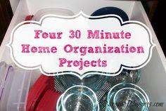 Four 30Minute HomeOrganizationProjects! #homeorganization