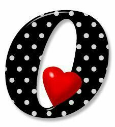 Letter O in black and white polka dots Polka Dot Letters, Cute Letters, Fancy Letters, Picture Letters, Polka Dots, Alphabet Pictures, Clip Art Pictures, Creative Lettering, Lettering Design