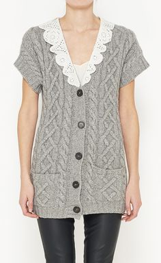3.1 Phillip Lim Grey And White Cardigan