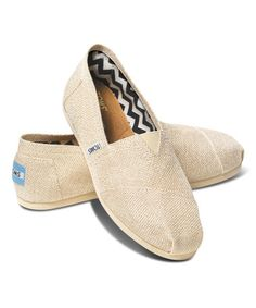 Another great find on #zulily! Gold Burlap Classics by TOMS #zulilyfinds