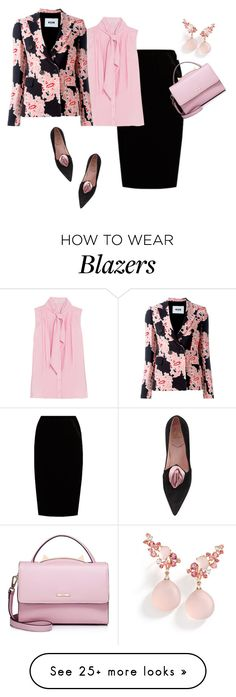 """Untitled #1381"" by mk-style on Polyvore featuring Roger Vivier, Jupe By Jackie, Oscar de la Renta, MSGM, WithChic and Brumani"