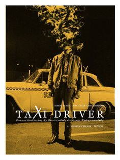 """Adam Juresko - """"Taxi Driver""""limited edition screen printedition of x artwork was created for """"Scorsese: an art show tribute"""" an art show exhibition of fan art, honoring the life and work of Martin Scorsese, curated by Spoke Art . Poster S, Movie Poster Art, Print Poster, Martin Scorsese, Great Films, Good Movies, Taxi Driver 1976, Film Mythique, Spoke Art"""