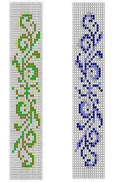 Instant Download! Bracelet The leaves are pert and green - Free Pattern by Maria Kniazeva aka Magic