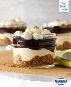 Enjoy the best part of camping without pitching a tent! These tasty S'mores parfaits are easy to make, and easier to enjoy! Makes for a great gift, as long as you keep it refrigerated.
