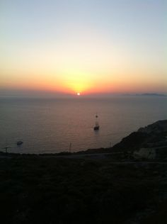 """See 1742 photos and 70 tips from 12063 visitors to Φηρά (Fira). """"Biggest village, and """"capital"""" of island. Santorini Greece, Island, Celestial, Sunset, Heart, Outdoor, Outdoors, Islands, Sunsets"""