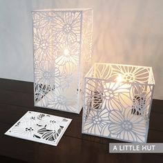 Brilliance candle covers and card set-SVG files by A Little Hut | Patricia Zapata