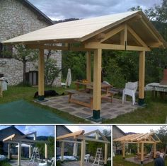 If you love to spend time in your backyard, then this project is perfect for you! Learn how to make a gazebo by viewing the full album at http://theownerbuildernetwork.co/06qr Would you like a gazebo in your backyard too?