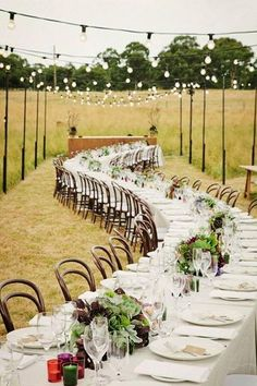 .Wedding Reception Curved long table
