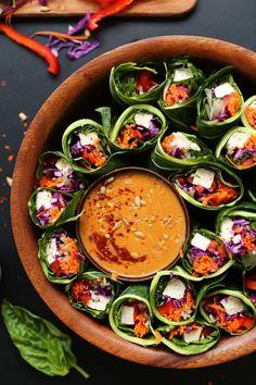 COLLARD GREEN SPRING ROLLS  SUNBUTTER DIPPING SAUCEReally nice  Mein Blog: Alles rund um Genuss & Geschmack  Kochen Backen Braten Vorspeisen Mains & Desserts!