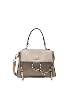 Shop for Chloe Small Faye Calfskin   Suede Day Bag in Motty Grey at FWRD.  Free 2 day shipping and returns. e97e33c1a11f7