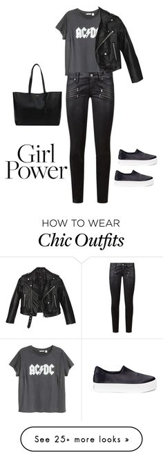 """Power Look : Effortless Chic"" by karenliz-r on Polyvore featuring Opening Ceremony, H&M, Paige Denim, Yves Saint Laurent, Nasty Gal and MyPowerLook"