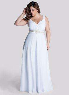 Vestidos para matrimonio civil para gorditas sencillo y con tirantes para novias con estilo