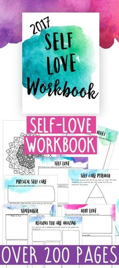 Make Self Love the focus of 2017! The Self Love Workbook encourages you to make time for yourself and focus on your self care!