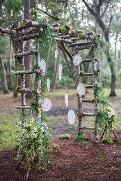 DIY bohemian wedding arbor / http://www.himisspuff.com/wedding-arches-wedding-canopies/2/