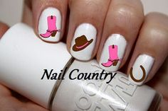 50pc Country Cowgirl Boots Cowgirl Hat Horse Shoe Country Pink N Brown Nail Decals Nail Art Nail Stickers Best Price  NC86