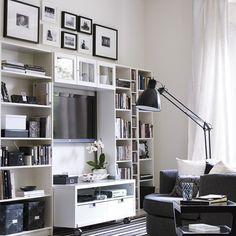 Modern living room storage | Living room designs | Bookcases | housetohome.co.uk