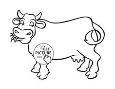 Nice Cow Coloring Page For Kids Animal Pages Printables Free