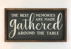 Gather Wood Sign Gather Sign The Best Memories Are Made Diy Wood Projects, Wood Crafts, Woodworking Projects, Projects To Try, Woodworking Plans, Youtube Woodworking, Diy Crafts, Woodworking Magazine, Popular Woodworking