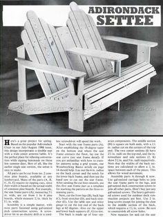 Adirondack Settee Plans - Outdoor Furniture Plans