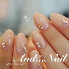 So cute and simple Perfect Nails, Gorgeous Nails, Love Nails, Bride Nails, Wedding Nails, Colorful Nail Designs, Nail Art Designs, Korean Nail Art, Kawaii Nails