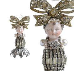 RESERVED           great Gatsby Girl original by ElizabethRosenArt, $135.00