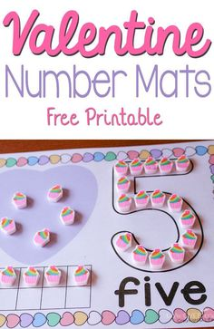 These free printable Valentine number mats for are such a fun way to practice numbers! You can use them with play dough, pom poms, erasers and so much more! This Valentine's Day, do a fun printable number activity with your preschoolers. Valentine Theme, Printable Valentine, Valentine Day Crafts, Valentine Ideas, Homemade Valentines, Valentine Wreath, Valentine Box, Valentines Day Activities, Holiday Activities